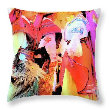Throw Pillow featuring the photograph Cuenca Kids 884 by Al Bourassa