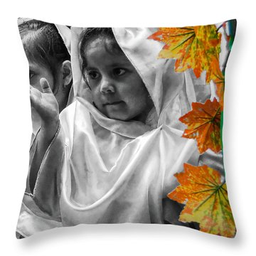 Cuenca Kids 885 Throw Pillow by Al Bourassa