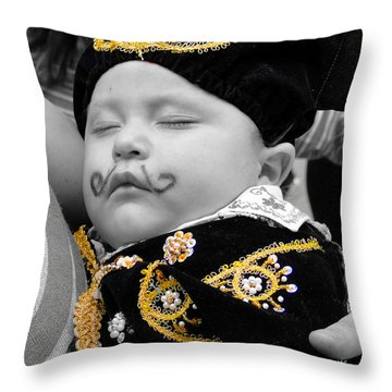 Throw Pillow featuring the photograph Cuenca Kids 891 by Al Bourassa