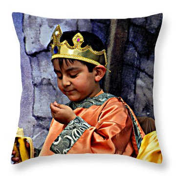 Throw Pillow featuring the photograph Cuenca Kids 903 by Al Bourassa