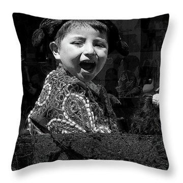 Cuenca Kids 954 Throw Pillow by Al Bourassa