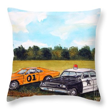 Cuff Em N Stuff Em Throw Pillow by Tim Ross