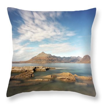 Throw Pillow featuring the photograph Cuillin Mountain Range by Grant Glendinning