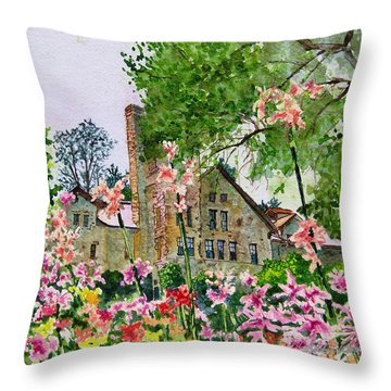 Culinary Institute At Greystone Throw Pillow by Gail Chandler