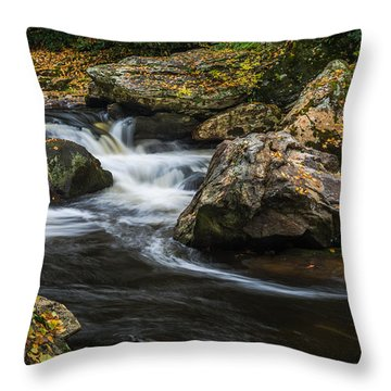 Cullasaja River Throw Pillow