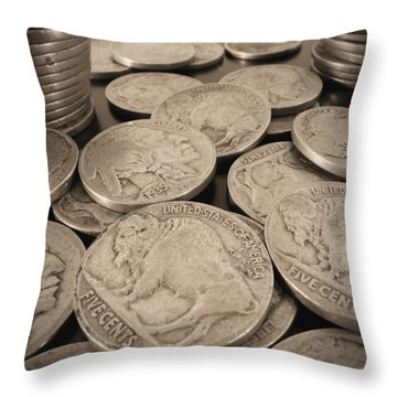 Culling The Herd Throw Pillow