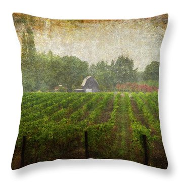 Cultivating A Chardonnay Throw Pillow