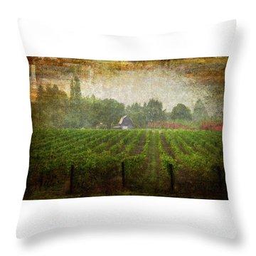 Cultivating A Chardonnay Throw Pillow by Jeffrey Jensen