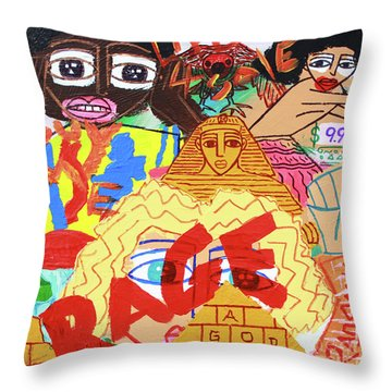 Culture Vultures Throw Pillow