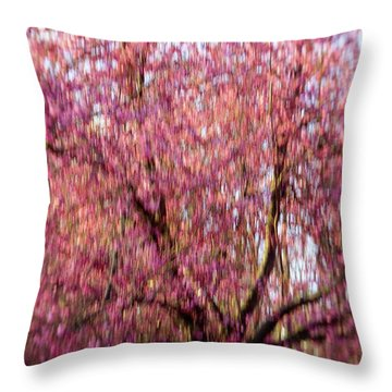 Columnar Sargent Cherry 2 Throw Pillow