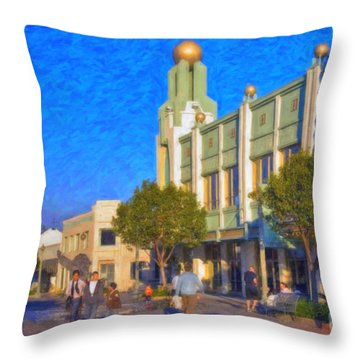 Culver City Plaza Theaters   Throw Pillow by David Zanzinger