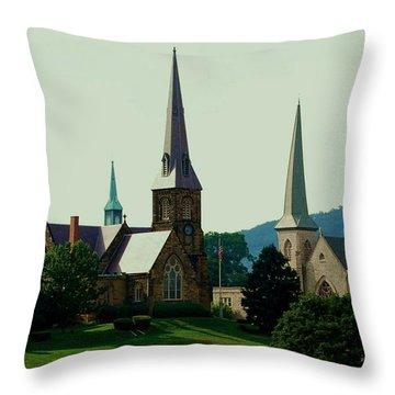 Cumberands Steeples Throw Pillow by Eric Liller