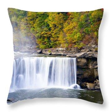 Cumberland Falls Throw Pillow