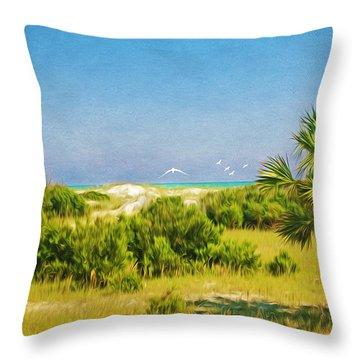 Cumberland Island Serenity Throw Pillow