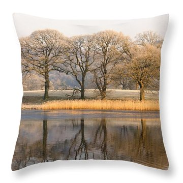 Cumbria, England Lake Scenic With Throw Pillow by John Short
