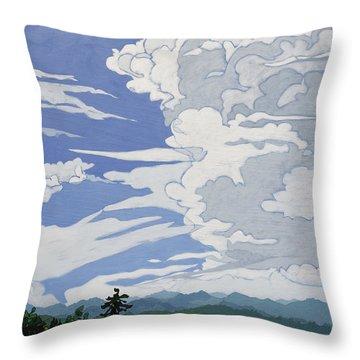 Cumulonimbus Afternoon Throw Pillow