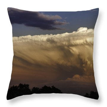 Throw Pillow featuring the photograph Cumulonimbus At Sunset by Jason Moynihan