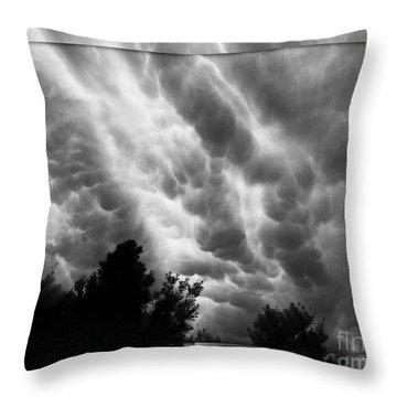 Cumulonimbus Clouds Over Cagliari Throw Pillow