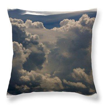 Cumulonimbus Throw Pillow by Priscilla Richardson