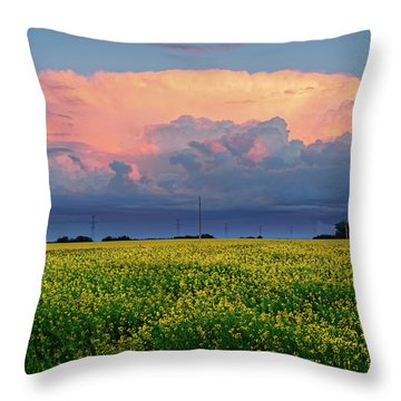 Cumulus And Canola Throw Pillow