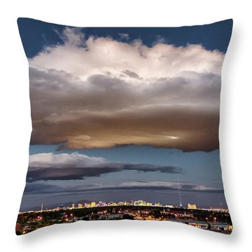 Cumulus Las Vegas Throw Pillow