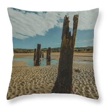 Cunnigar Groynes 3 Throw Pillow