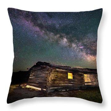 Cunningham Cabin After Dark Throw Pillow