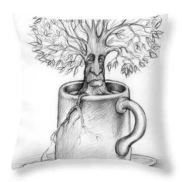 Cup-o-tree Throw Pillow