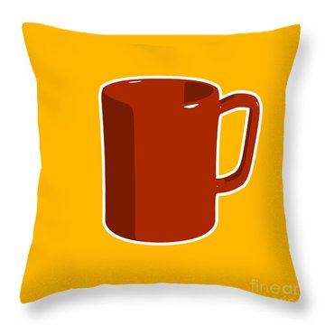 Cup Of Coffee Graphic Image Throw Pillow by Pixel Chimp