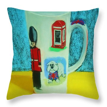 Cup Of London Java Throw Pillow
