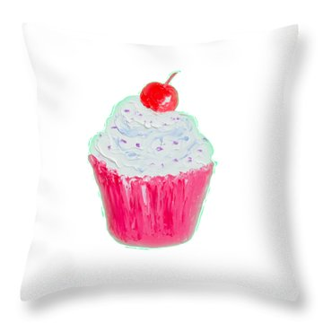 Cupcake Painting Throw Pillow