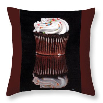 Cupcake Reflections Throw Pillow