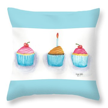 Cupcakes?  Throw Pillow by Isabel Proffit