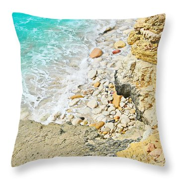 The Sea Below Throw Pillow by Expressionistart studio Priscilla Batzell