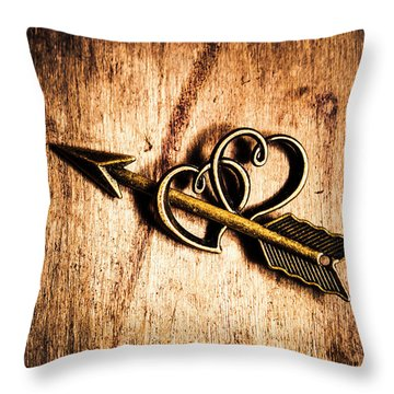 Cupid Arrow And Hearts Throw Pillow