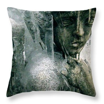 Cupid's Psyche Awaiting Zephyrus Throw Pillow by Misha Bean