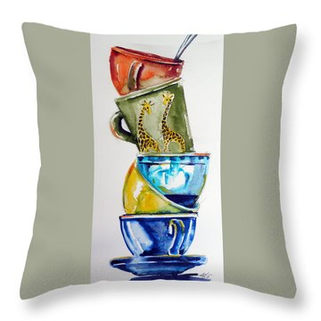 Cups Throw Pillow