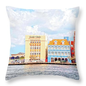 Curacao Awash Throw Pillow by Allen Carroll