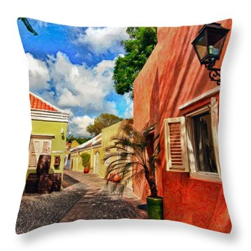 Curacao Colours Throw Pillow