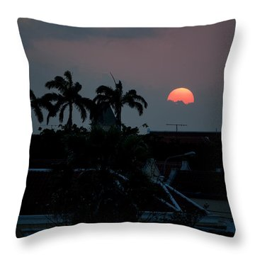Curacao Sun Rise Throw Pillow by Allen Carroll