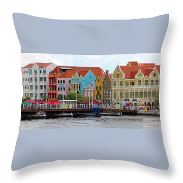 Curacao Willemstad Panorama Throw Pillow