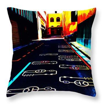 Curcuit City Throw Pillow