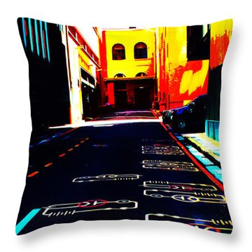 Curcuit City Throw Pillow