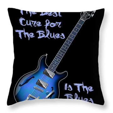 Cure For The Blues Shirt Throw Pillow