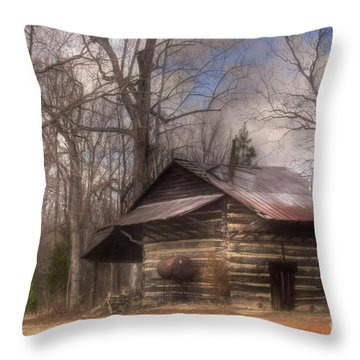 Throw Pillow featuring the photograph Curing Time by Benanne Stiens