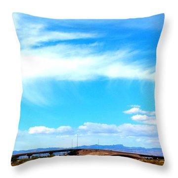 Dragon Cloud Over Suburbia Throw Pillow