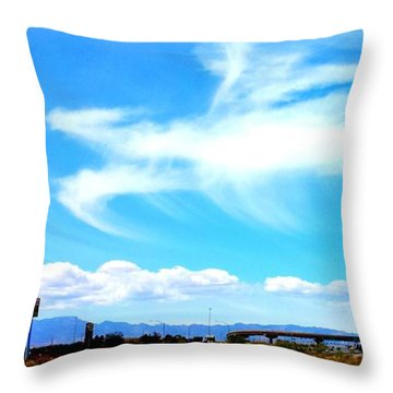 Dragon Cloud Over Suburbia Throw Pillow