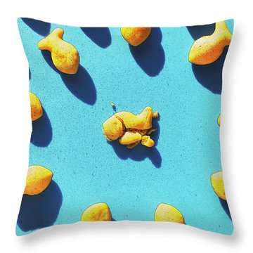 Curiosity Throw Pillow by Luke Moore