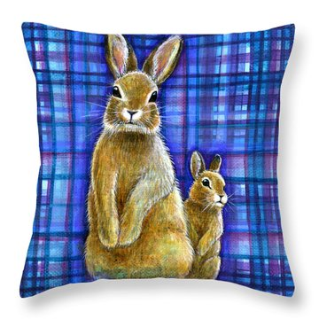 Throw Pillow featuring the painting Curiosity by Retta Stephenson