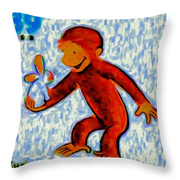 Curious George Throw Pillow